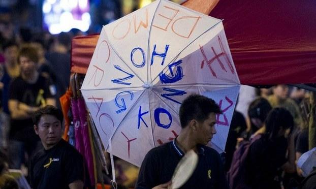 Sinh viên Việt Nam tham gia biểu tình ở Hong Kong