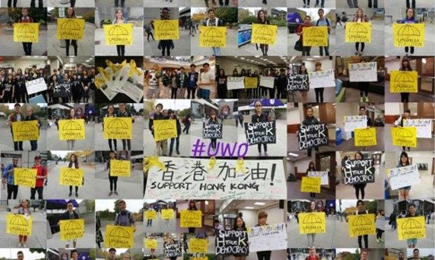 Sinh viên Hong Kong tại Mỹ biểu tình ủng hộ dân chủ