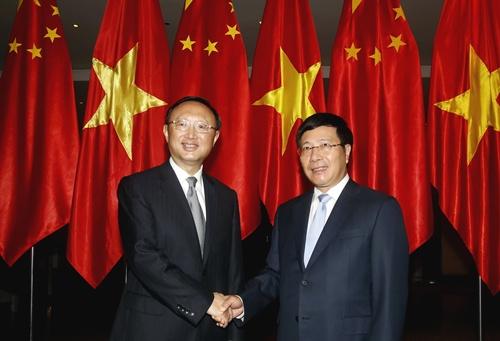 Ông Dương Khiết Trì lại sang Việt Nam gặp bộ trưởng Phạm Bình Minh
