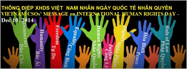 Mạng lưới Xã hội Dân sự VN gởi thông điệp nhân ngày Nhân quyền Quốc tế